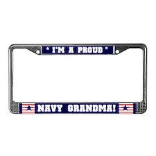 Proud Navy Grandma License Plate Frame