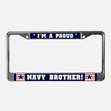 Proud Navy Brother License Plate Frame