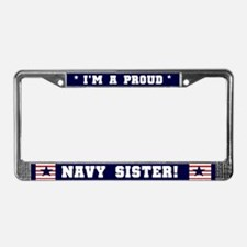 Proud Navy Sister License Plate Frame