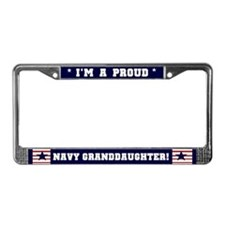 Proud Navy Granddaughter License Plate Frame