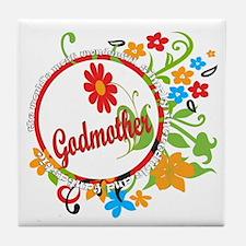 Best Godmother Ever Tile Coaster