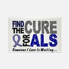 Find The Cure 1 ALS Rectangle Magnet