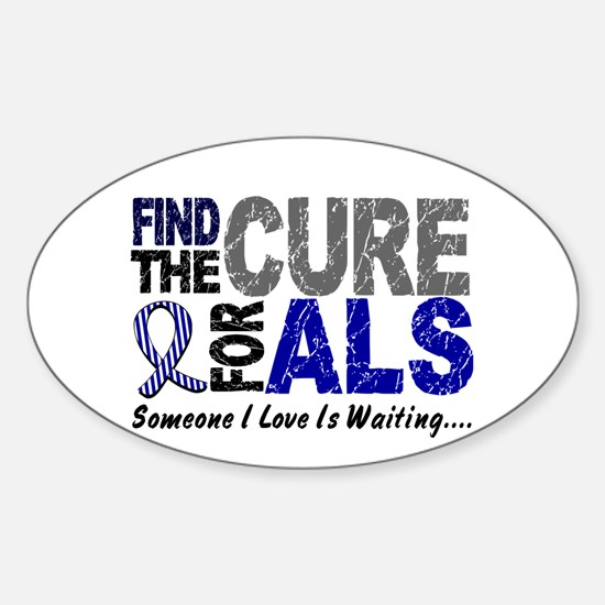 Find The Cure 1 ALS Oval Decal