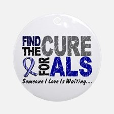 Find The Cure 1 ALS Ornament (Round)