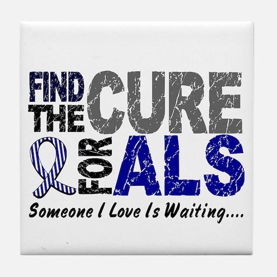 Find The Cure 1 ALS Tile Coaster
