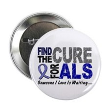 """Find The Cure 1 ALS 2.25"""" Button (10 pack)"""