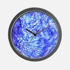Blue Marble Watercolor Paint Wall Clock