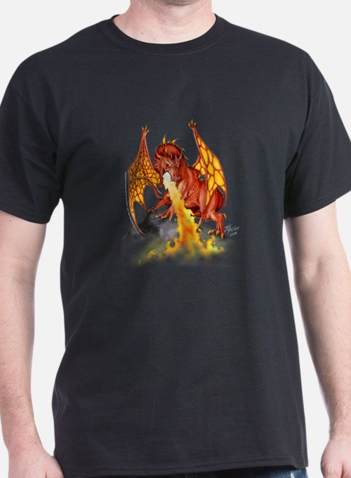 Red Dragon Black T-Shirt