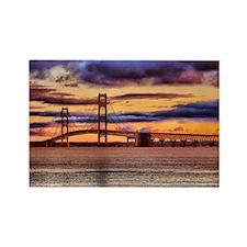 Mackinac Bridge #1157 Rectangle Magnet (10 pack)