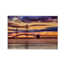 Mackinac Bridge #1157 Rectangle Magnet