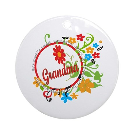 Wonderful Grandma Ornament (Round)