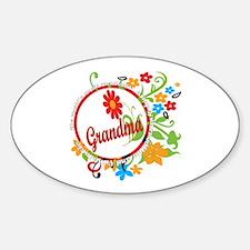Wonderful Grandma Oval Decal