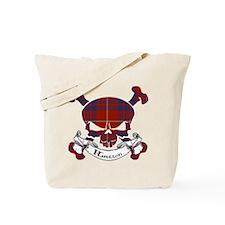 Hamilton Tartan Skull Tote Bag