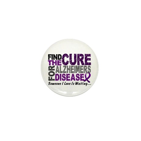 Find The Cure 1 ALZHEIMERS Mini Button