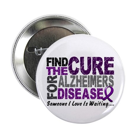"""Find The Cure 1 ALZHEIMERS 2.25"""" Button"""
