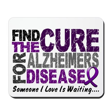 Find The Cure 1 ALZHEIMERS Mousepad