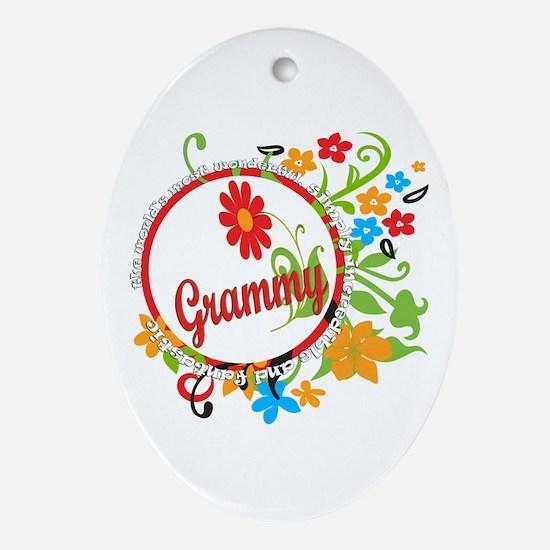 Wonderful Grammy Oval Ornament