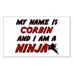 my name is corbin and i am a ninja Sticker (Rectan