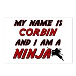 my name is corbin and i am a ninja Postcards (Pack