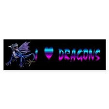 Blue Dragon At Night Bumper Bumper Sticker