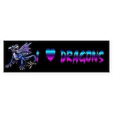 Blue Dragon At Night Bumper Bumper Sticker