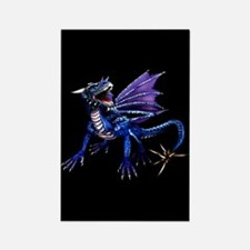 Blue Dragon At Night Rectangle Magnet