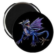 Blue Dragon At Night Magnet