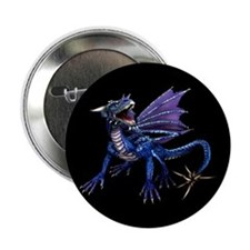 """Blue Dragon At Night 2.25"""" Button (10 pack)"""