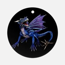 Blue Dragon At Night Ornament (Round)