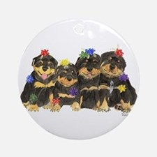 Rottweiler Christmas  Ornament (Round)