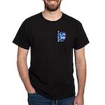 Cross into the Blue Black T-Shirt