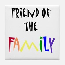 Cute Gay family Tile Coaster