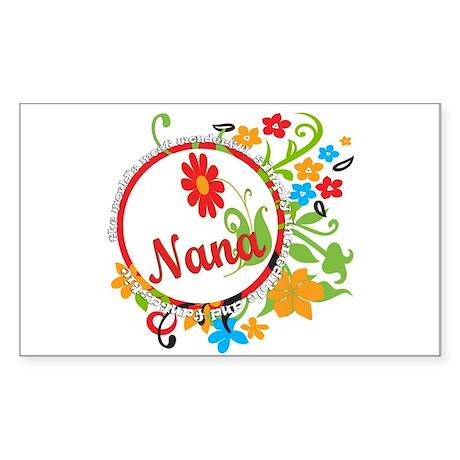 Wonderful Nana Rectangle Sticker