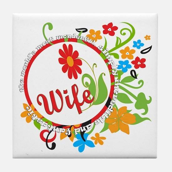 Wonderful Wife Tile Coaster