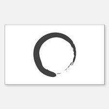 Enso - Zen Circle Rectangle Decal