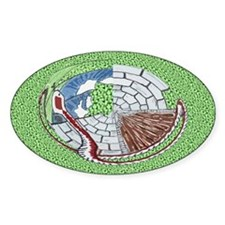 Castle Serpent Oval Decal