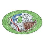 Castle Serpent Oval Sticker