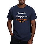 Female Firefighter Men's Fitted T-Shirt (dark)