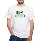 Duffy pride Mens White T-shirts