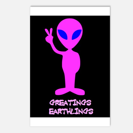 Greetings Earthlings Postcards (Package of 8)