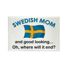 Good Looking Swedish Mom Rectangle Magnet