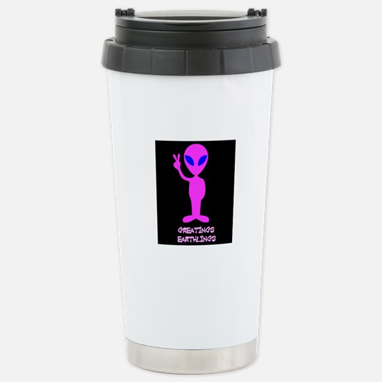 Greetings Earthlings Stainless Steel Travel Mug