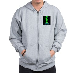 Greetings Earthlings Zip Hoodie