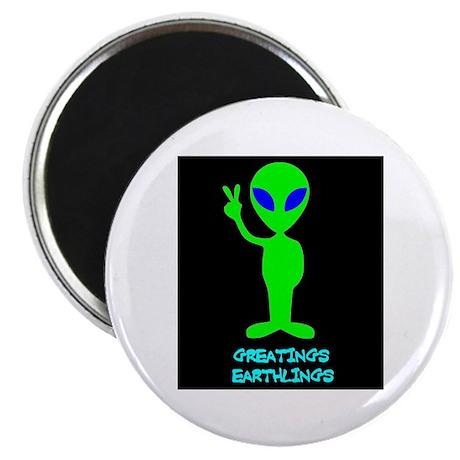 """Greetings Earthlings 2.25"""" Magnet (10 pack)"""