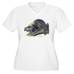Audubon Raccoon Coon (Front) T-Shirt