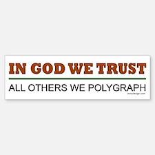 In God We Trust Bumper Bumper Bumper Sticker