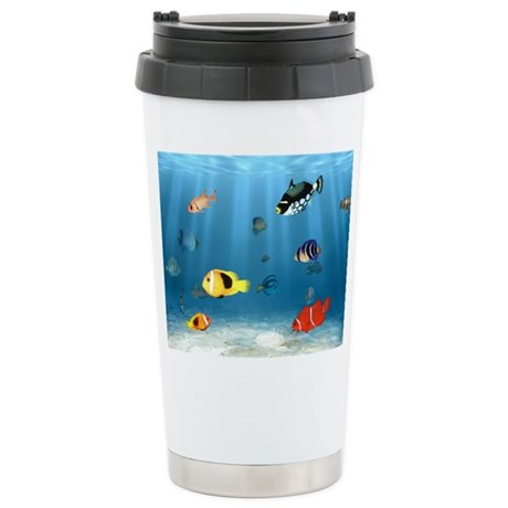 Oceans Of Fish Stainless Steel Travel Mug
