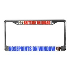 Brittany On Board License Plate Frame