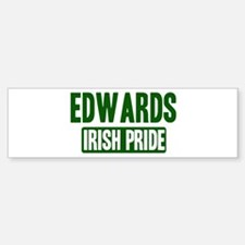 Edwards irish pride Bumper Bumper Bumper Sticker