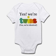 Yes, We're Identical Twins Onesie